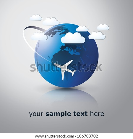 Airplane Travel - stock vector