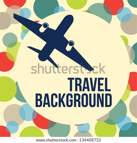 airplane travel background - stock vector