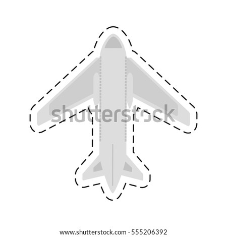 airplane travel business vacation cut line vector illustration eps 10