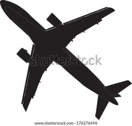 airplane - vector - stock vector