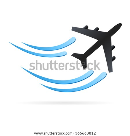 airplane - vector icon