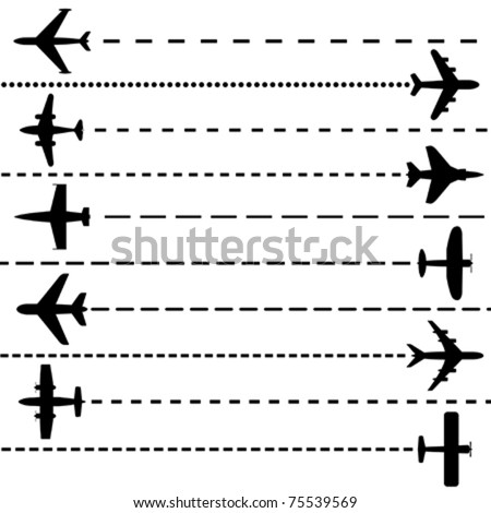 Airplanes - stock vector
