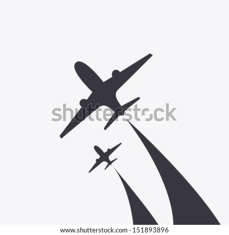 Airplanes icon - stock vector