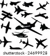 Airplanes-vector - stock vector