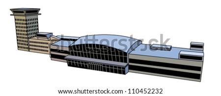 Airport - stock vector