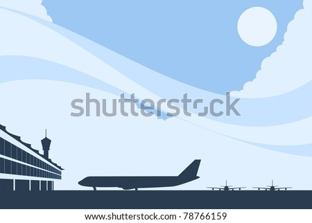 Airport Background-vector - stock vector