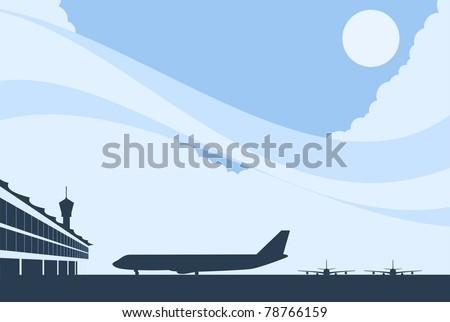 Airport Background-vector - stock vector