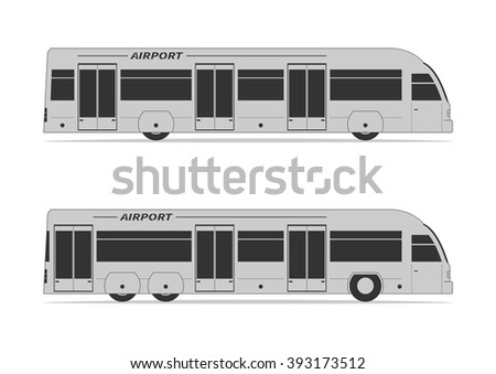 Airport bus. Isolated on background. Vector illustration. - stock vector