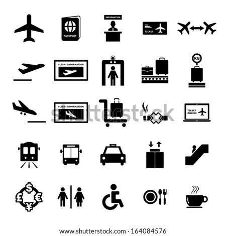 Airport Icon - stock vector
