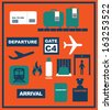 airport icon vector/illustration - stock vector