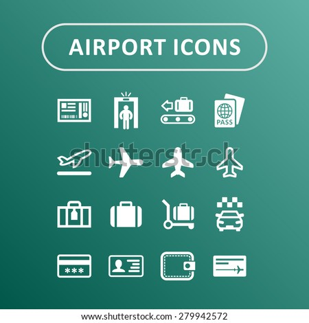 Airport icons for travel