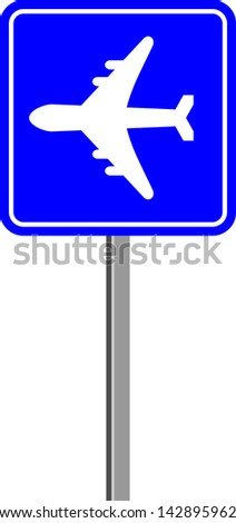 Airport sign - stock vector