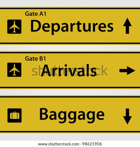 Airport Signs - stock vector