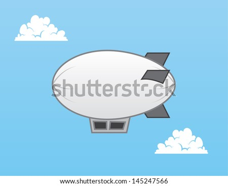 Airship blimp in the sky  - stock vector