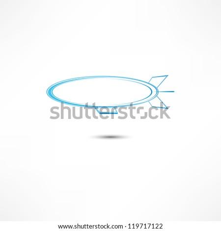 Airship Icon - stock vector