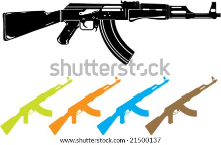 ak 47 vector stock images, royalty-free images & vectors