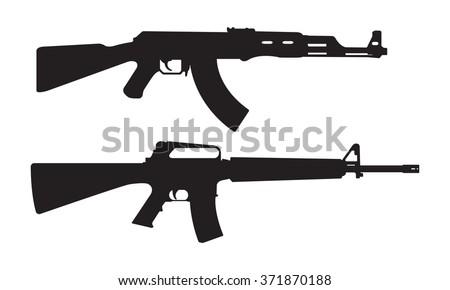 ak 47 icon m 16 icon machine gun stock photo photo vector rh shutterstock com ak47 vector art free ak47 vector
