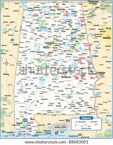 Alabama Map Stock Images RoyaltyFree Images Vectors Shutterstock - Alabama state map