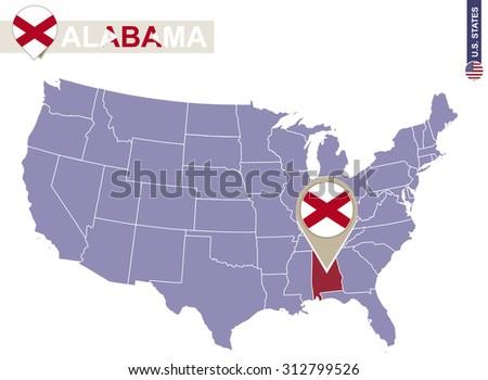Huntsville Alabama Stock Images RoyaltyFree Images Vectors - Alabama in us map