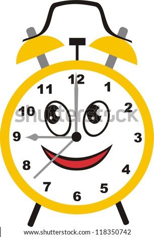 Alarm clock cartoon isolated vector illustration - stock vector