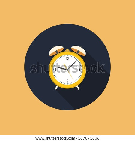 alarm clock colorful flat style vector illustration - stock vector