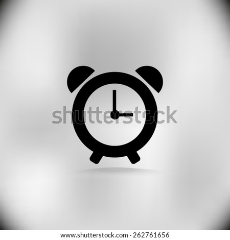 alarm clock icon - stock vector