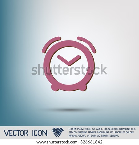 alarm clock icon. Symbol morning. Alarm icon . The clock shows the time