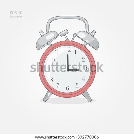 Alarm Clock Illustration - stock vector