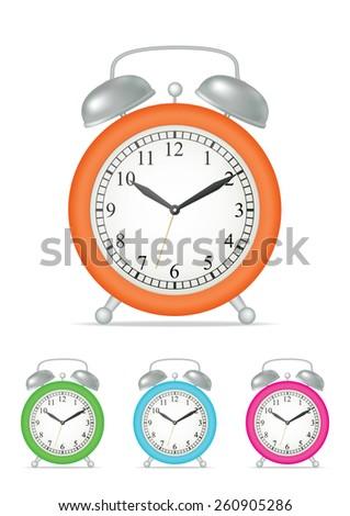 Alarm Clock, isolated. Vector illustration - stock vector