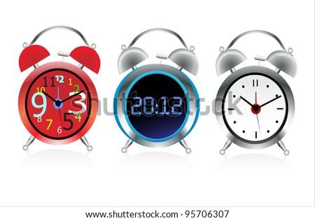 Alarm clock. Vector. - stock vector