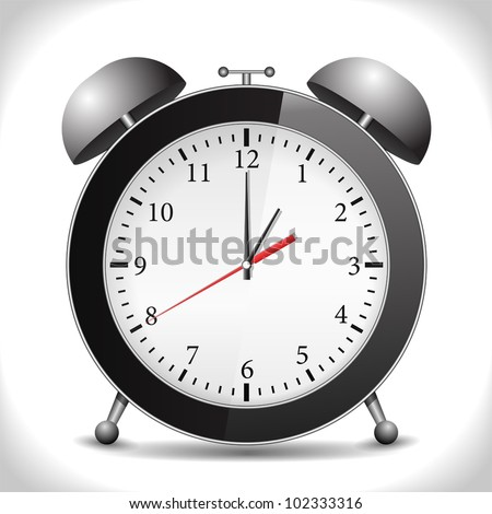 Alarm clock, vector eps10 illustration