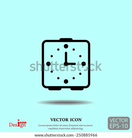 alarm clock vector icon - stock vector