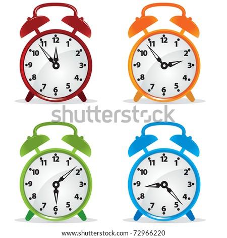 Alarm clock. Vector illustration - stock vector