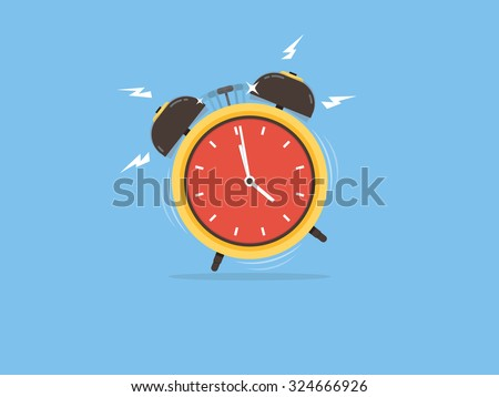 Alarm clock, wake-up time - stock vector