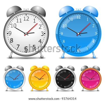Alarm clocks, vector eps10 illustration - stock vector