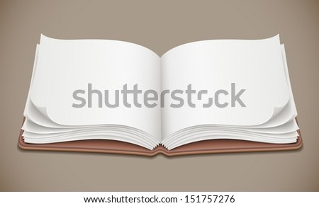 Album open spread with blank pages - eps10 vector illustration - stock vector