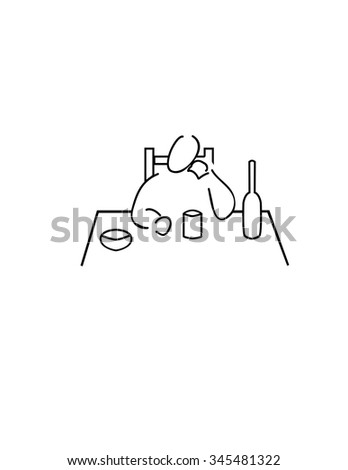 Alcohol - stock vector