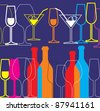 alcohol background - stock vector