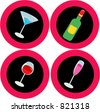 Alcohol design elements - stock vector