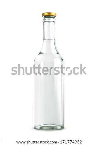 Alcohol drink in bottle vector illustration - stock vector