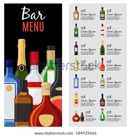 Wine Menu Template Vintage Wine Menu Template Vintage Menu