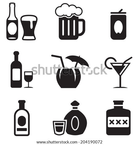Alcohol Icons - stock vector