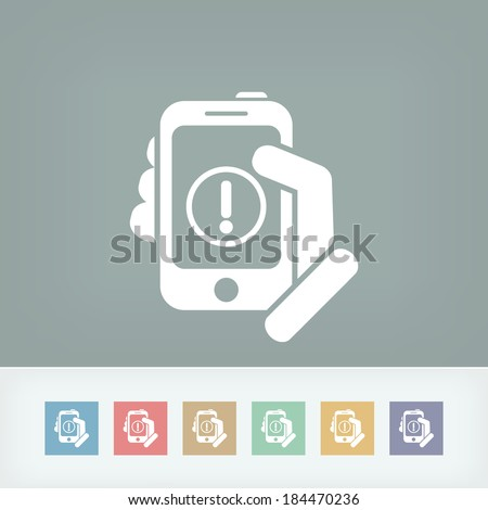 Alert mobile device - stock vector