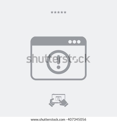 Alert window icon - stock vector