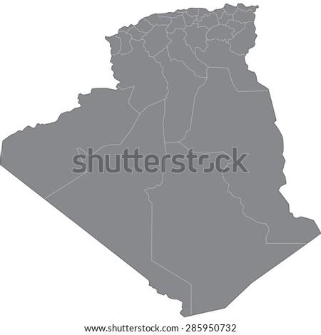 algeria - stock vector