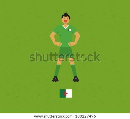 Algeria Soccer Tables  - stock vector