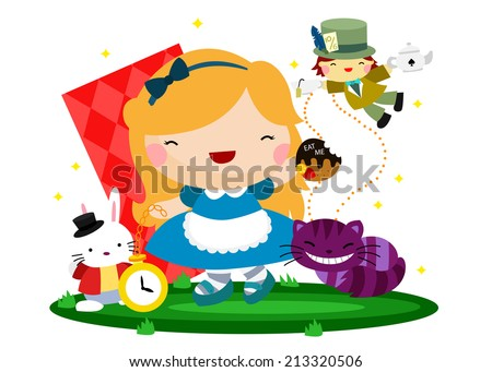 Alice - stock vector