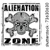Alienation Zone - stock vector