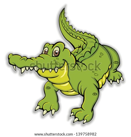 aligator - stock vector