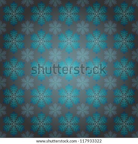 alighted blue snowflakes motive vector wrap paper illustration